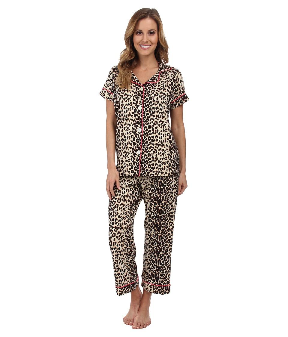 BedHead - Short Sleeve Notch Collar and Capri (Wild Thing) Women's Pajama Sets