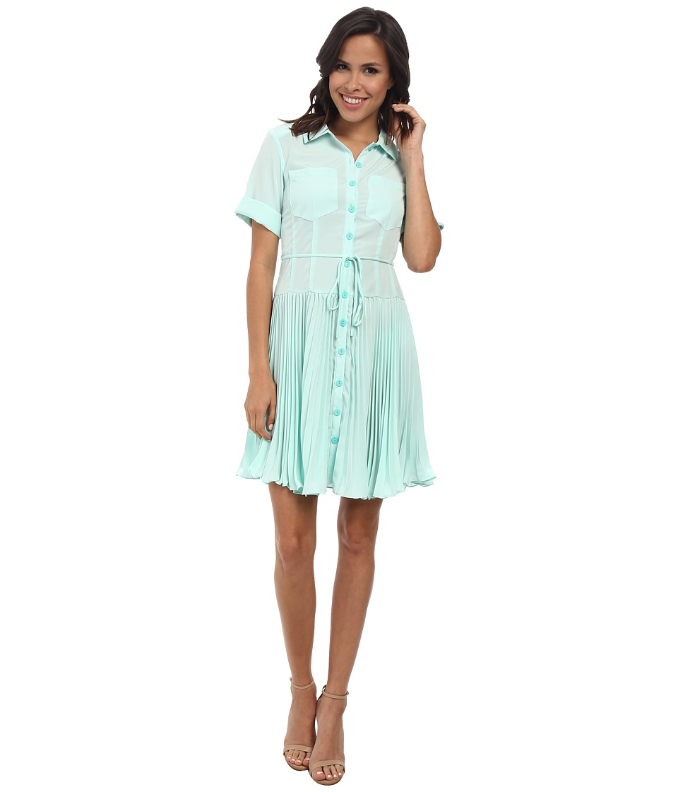 Nanette Lepore - Sunburst Dress (Aqua) Women's Dress