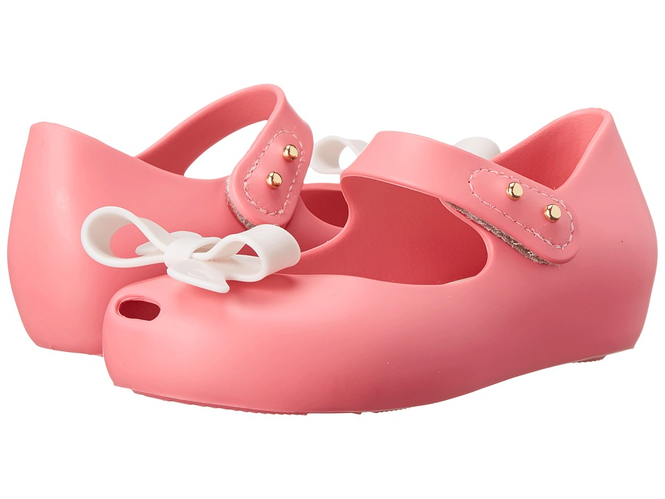 Mini Melissa - Mini Ultra Girl Bow (Toddler) (Pink White) Girl's Shoes