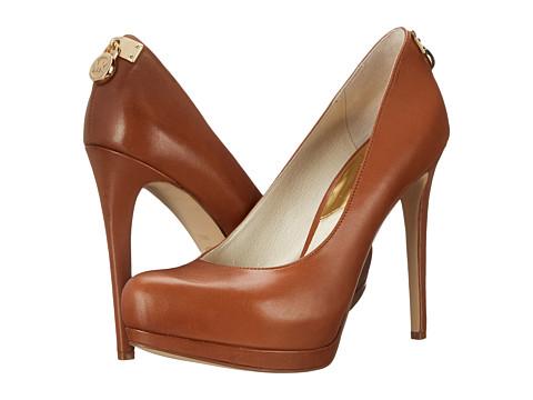 MICHAEL Michael Kors - Hamilton Pump (Luggage Smooth Calf) High Heels