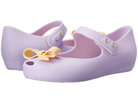Mini Melissa - Mini Ultra Girl Bow (Toddler) (Lilac Yellow) Girl's Shoes