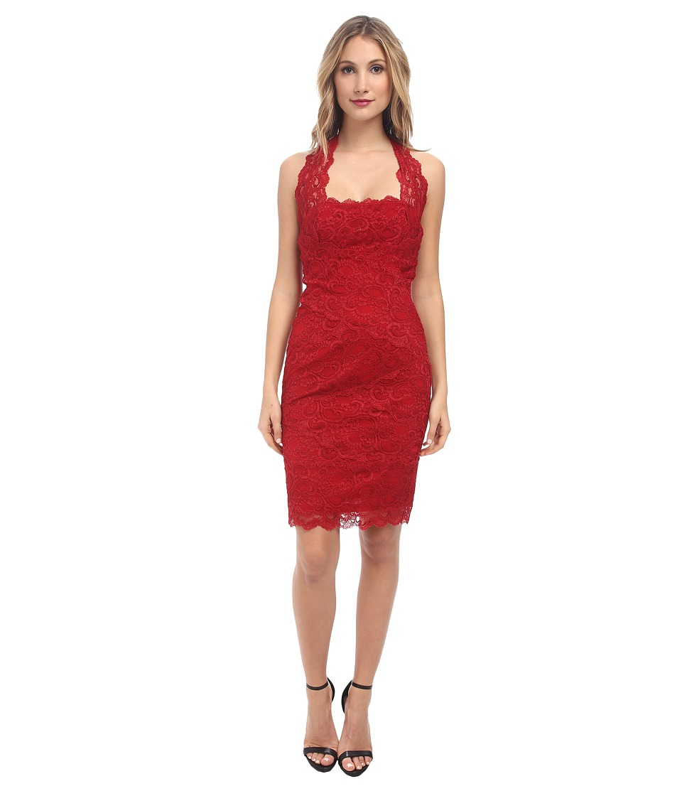 Nicole Miller - Halter Lace Dress (Red) Women