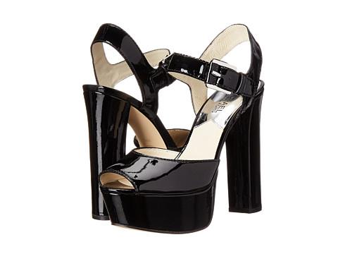 MICHAEL Michael Kors - London Open Toe (Black Patent) High Heels