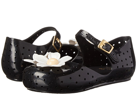 Mini Melissa - Furadinha + Isabela Capeto (Toddler) (Black) Girls Shoes