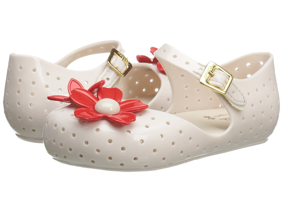Mini Melissa - Furadinha + Isabela Capeto (Toddler) (White) Girls Shoes