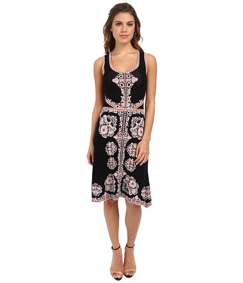 Nanette Lepore - White Sands Dress (Black Multi) Women's Dress