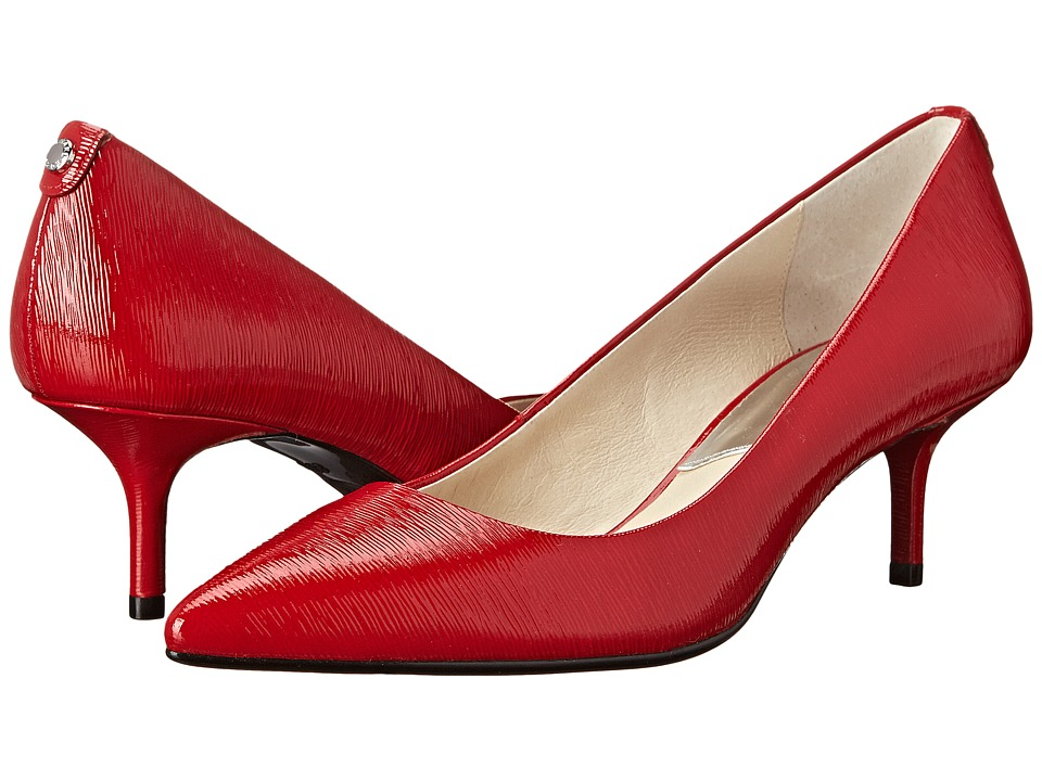 MICHAEL Michael Kors - MK-Flex Kitten Pump (Chili Patent Saffiano) High Heels