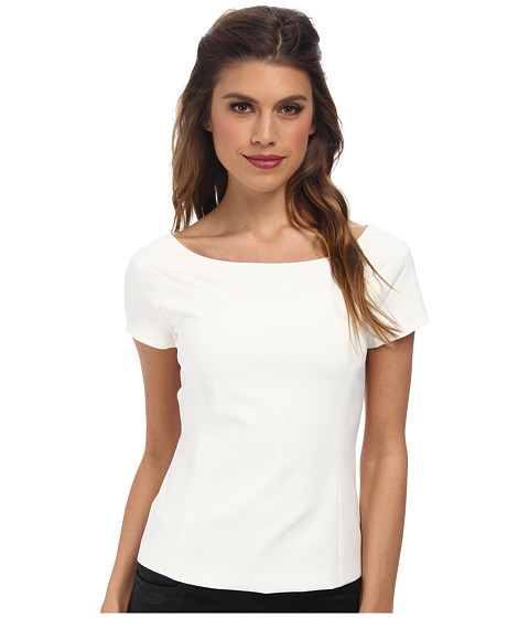 Nicole Miller - Karina Boat Neck Top (White) Women's Clothing