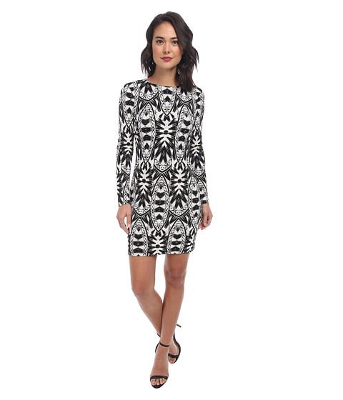 Nicole Miller - Mercedes Lumen State Jersey Dress (Black/White) Women
