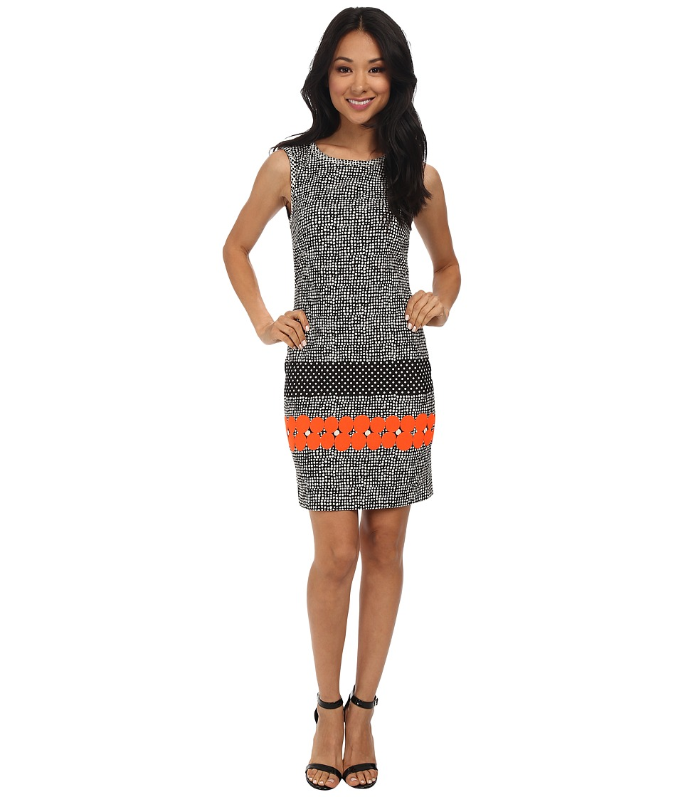Nicole Miller - Taylor Glow Jacquard Sheath Dress (Neon Orange) Women's Dress