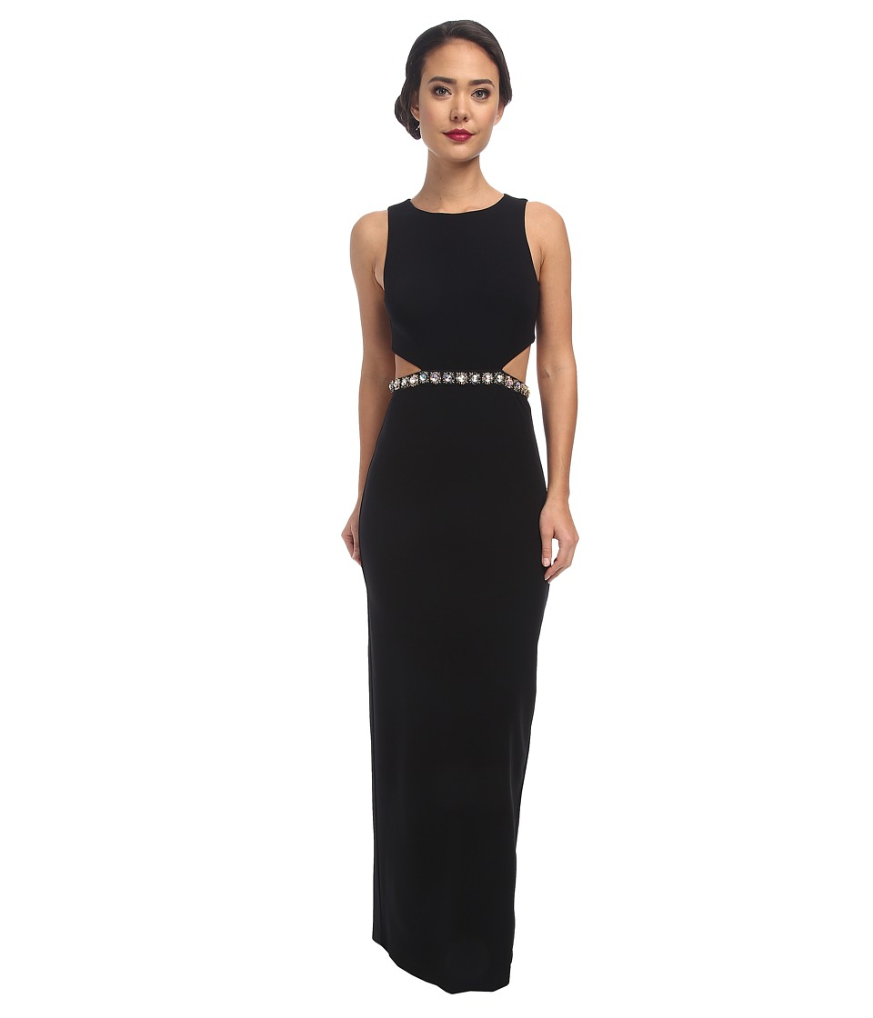 Nicole Miller - Queen Of The Night Embellished Gown (Black) Women's Dress