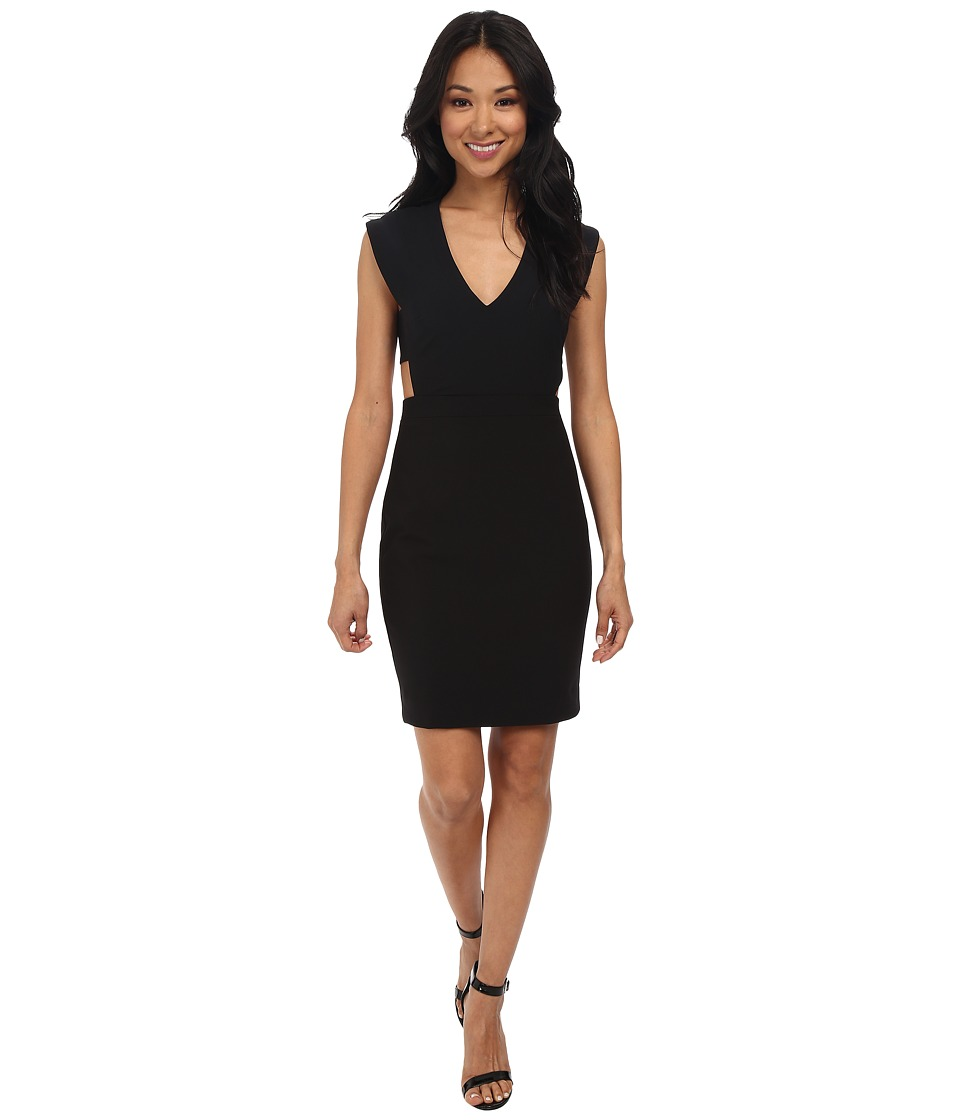 Nicole Miller - Caleb Techy Crepe Cutout Dress (Black) Women's Dress