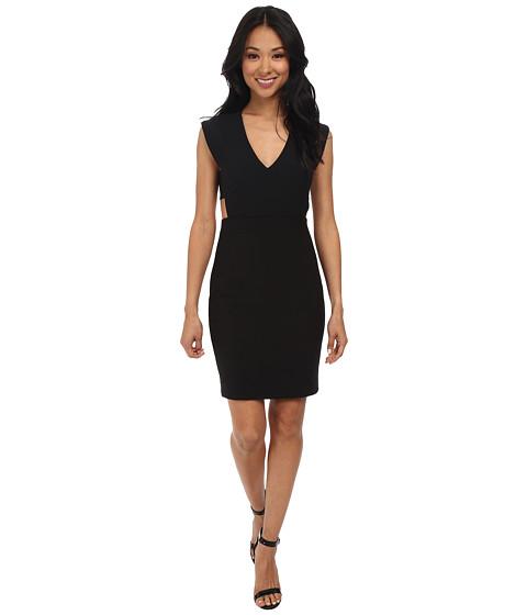 Nicole Miller - Caleb Techy Crepe Cutout Dress (Black) Women's Dress