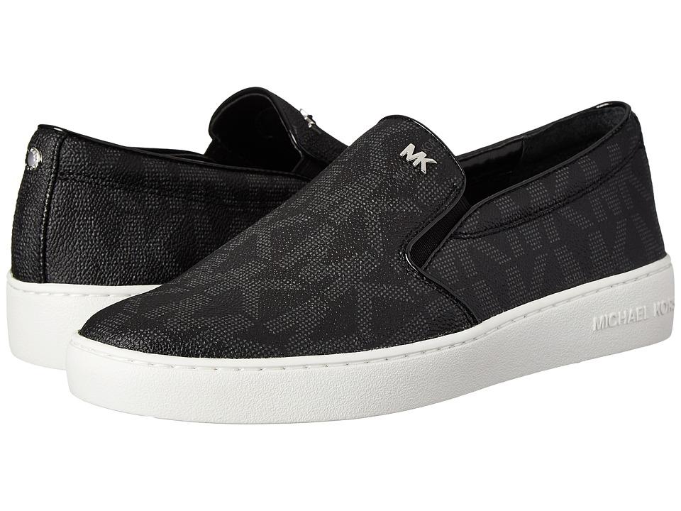 MICHAEL Michael Kors - Keaton Slip On (Black MK Sig PVC) Women's Slip on Shoes