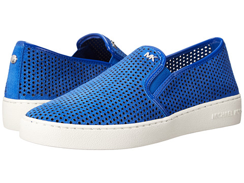 MICHAEL Michael Kors - Brett Slip-On (Electric Blue Lasered Sport Suede) Women