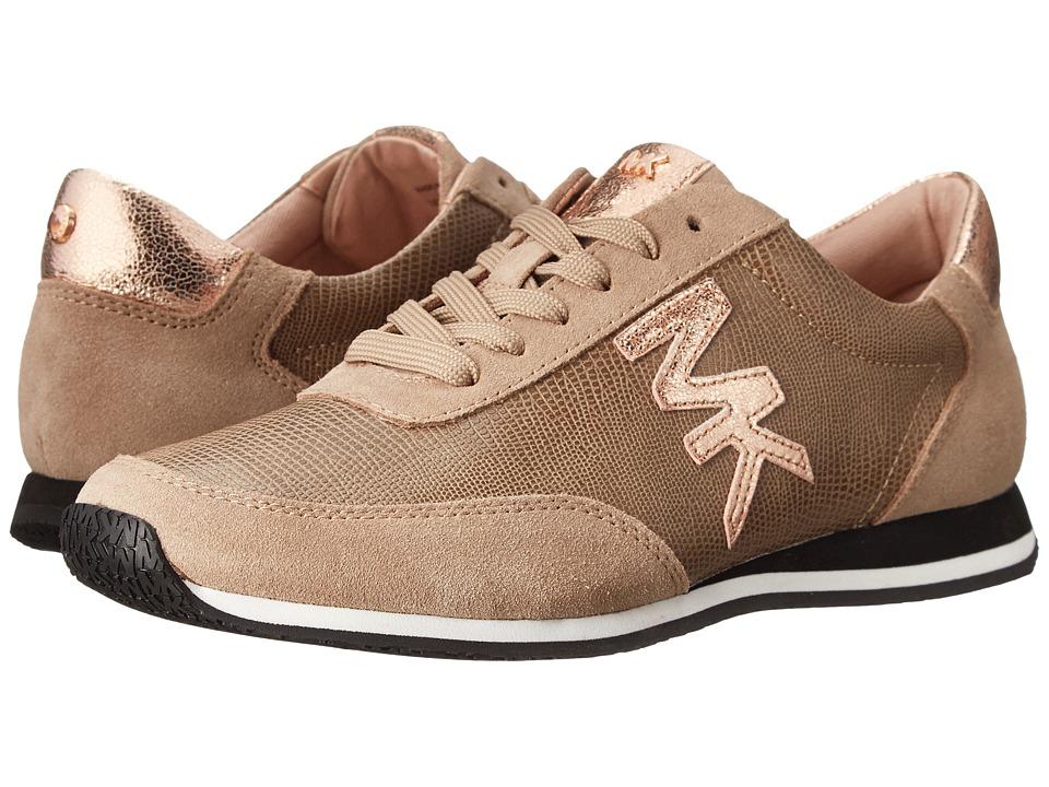 MICHAEL Michael Kors - Stanton Trainer (Dark Khaki Sport Suede/Printed Lizard/Crinkled Metallic) Women's Lace up casual Shoes