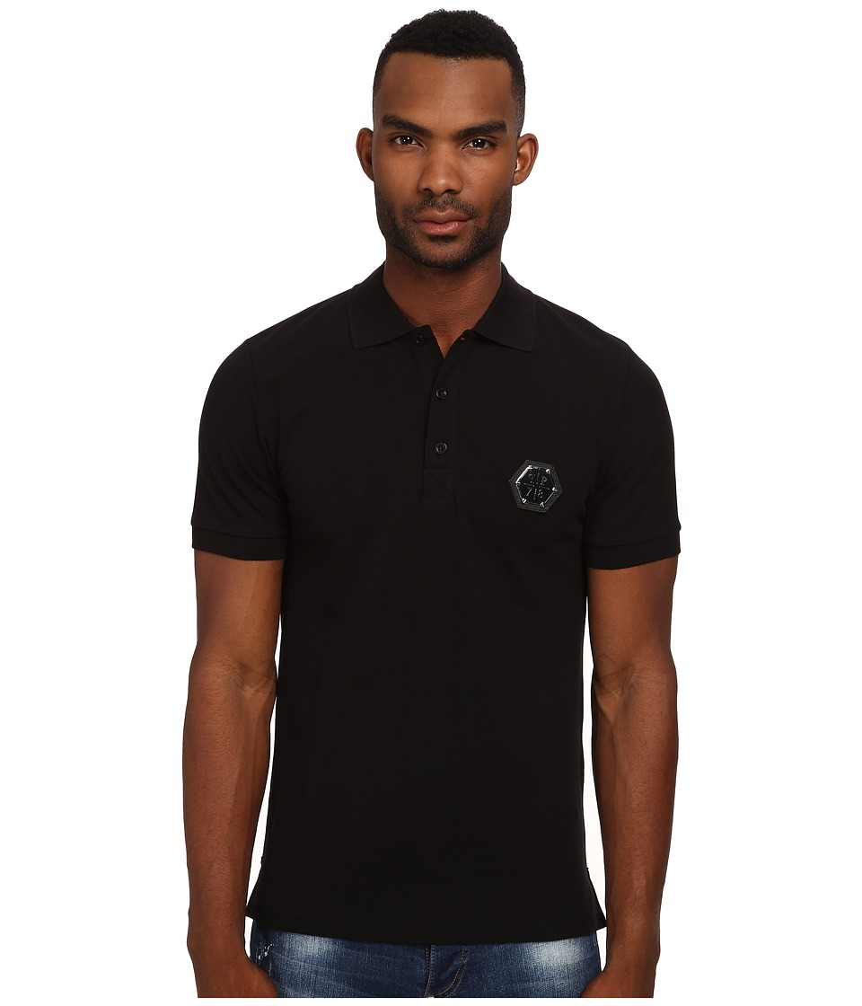 Philipp Plein - Mr Jones Polo (Black) Men's Clothing