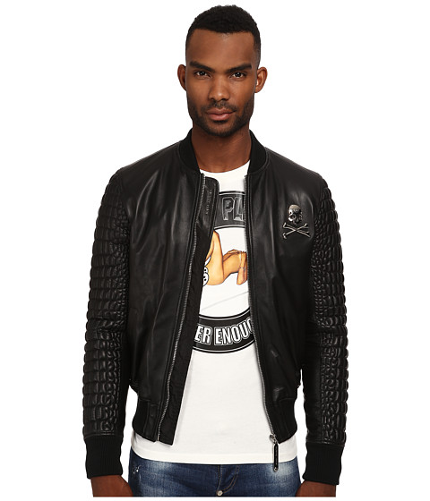 Philipp Plein - Star 67 Bomber Jacket (Black) Men's Coat