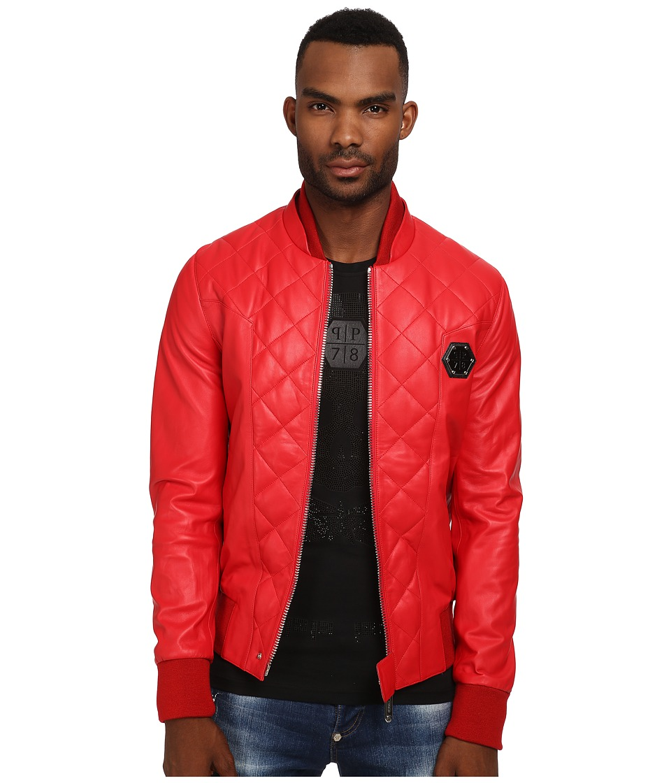 Philipp Plein - No One Leather Jacket (Red) Men