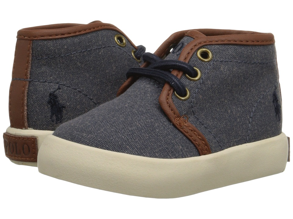 Polo Ralph Lauren Kids - Ethan Mid (Toddler) (Navy Pumice Canvas) Boy's Shoes