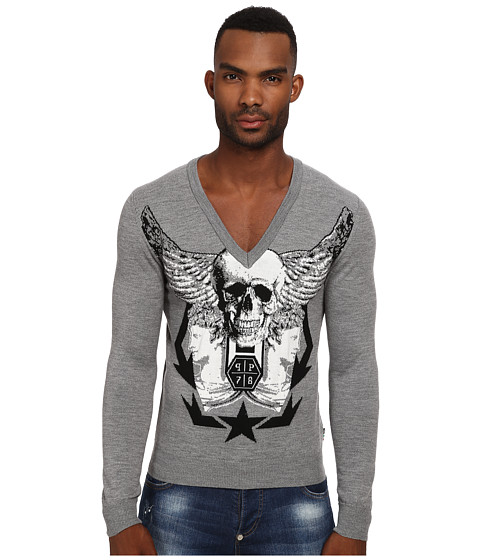 Philipp Plein - Still Got It Pullover (Grey) Men
