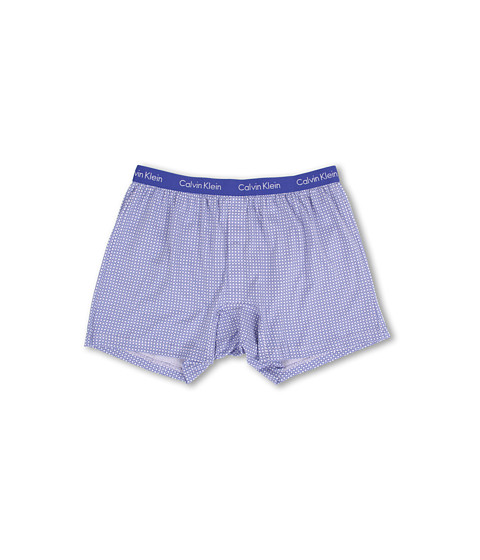 Calvin Klein Underwear - Bar Matrix Slim Fit Knit Boxer (Diamond Star Print/Cobalt Water) Men