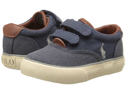 Polo Ralph Lauren Kids - Vaughn II EZ (Toddler) (Navy Washed Canvas/Navy Pumice Canvas) Boy's Shoes