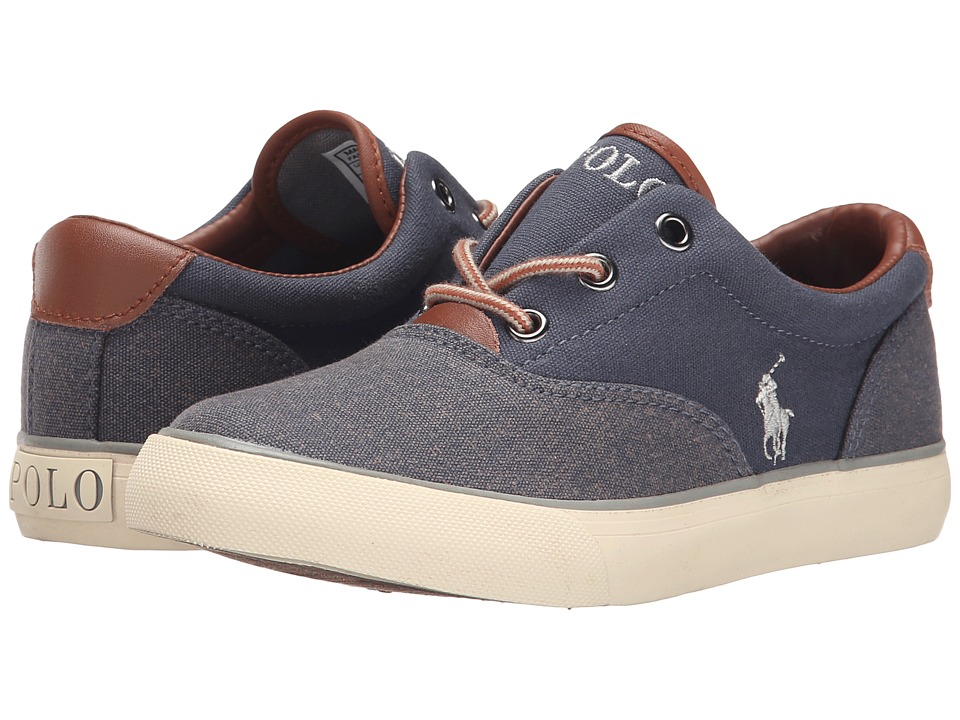 Polo Ralph Lauren Kids - Vaughn II (Big Kid) (Navy Washed Canvas/Navy Pumice Canvas) Boy's Shoes