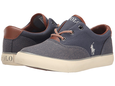 Polo Ralph Lauren Kids - Vaughn II (Big Kid) (Navy Washed Canvas/Navy Pumice Canvas) Boy