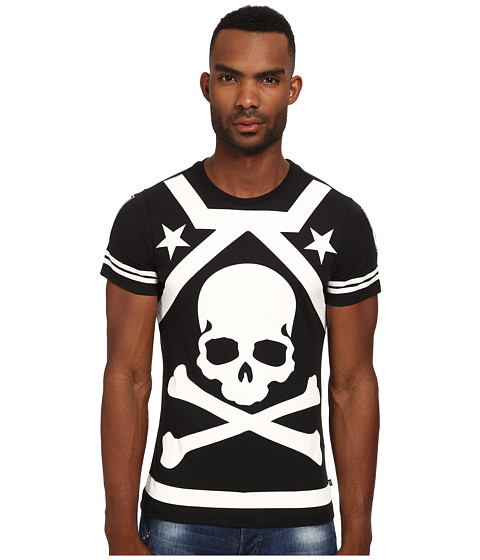 Philipp Plein - A Bad One Tee Shirt (Black) Men's T Shirt