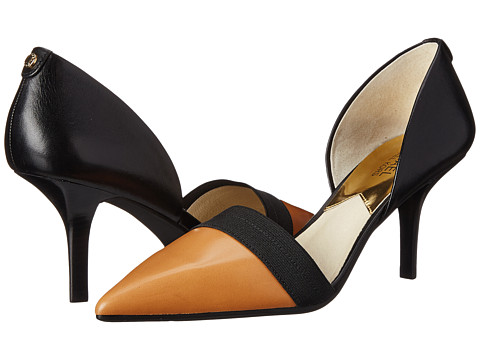 MICHAEL Michael Kors - Wendy Pump (Suntan/Black Vachetta) High Heels