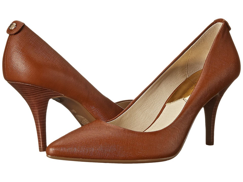MICHAEL Michael Kors - MK Flex Mid Pump (Luggage Saffiano) High Heels