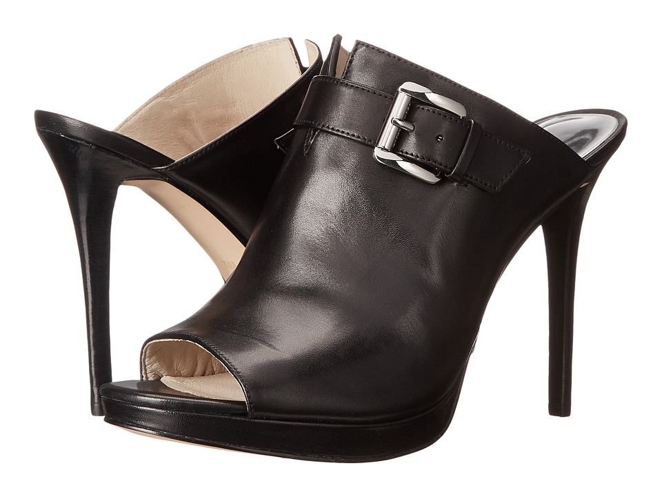 MICHAEL Michael Kors - Isabella Mule (Black Smooth Calf) High Heels