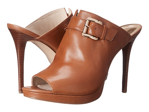 MICHAEL Michael Kors - Isabella Mule (Luggage Smooth Calf) High Heels