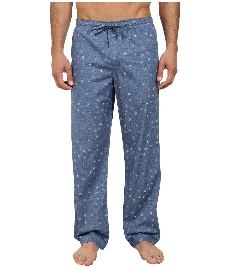 Calvin Klein Underwear - Pajama Pant U1726 (Blue Print) Men