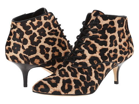 MICHAEL Michael Kors - Talulah Mid Bootie (Natural Cheetah Haircalf/Smooth Calf) Women