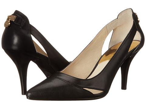 MICHAEL Michael Kors - Hamilton Mid (Black Smooth Calf) High Heels
