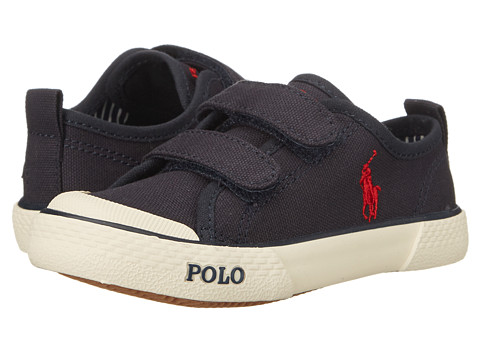 Polo Ralph Lauren Kids - Carlisle II EZ (Toddler) (Navy Canvas) Boy's Shoes