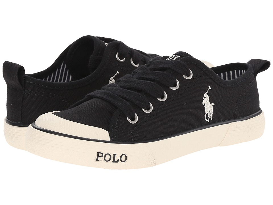 Polo Ralph Lauren Kids - Carlisle II (Big Kid) (Black Canvas) Kid's Shoes