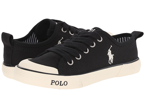 Polo Ralph Lauren Kids - Carlisle II (Big Kid) (Black Canvas) Boy's Shoes