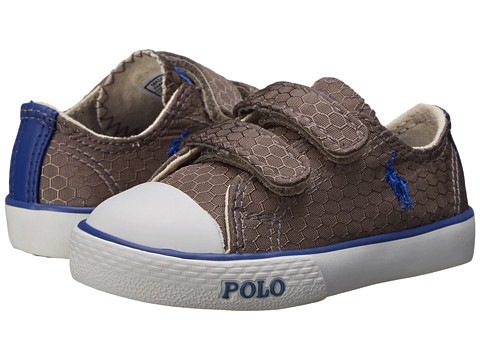 Polo Ralph Lauren Kids - Carson II EZ (Toddler) (Grey Honeycomb Ripstop/Royal) Boy's Shoes