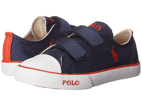 Polo Ralph Lauren Kids - Carson II EZ (Toddler) (Navy Honeycomb Ripstop/Red) Boy's Shoes