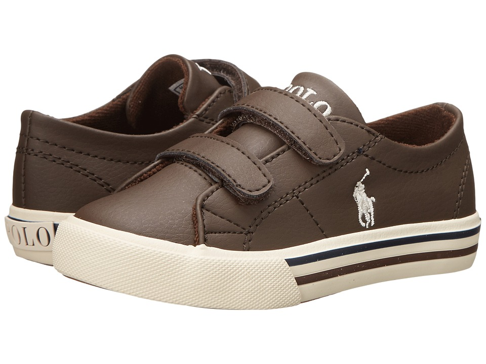 Polo Ralph Lauren Kids - Scholar EZ (Toddler) (Chocolate Tumbled) Boys Shoes