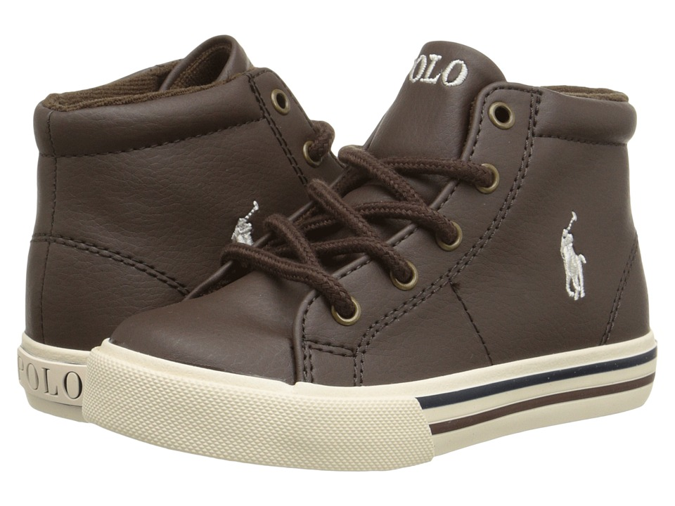 Polo Ralph Lauren Kids - Scholar Mid (Toddler) (Chocolate Tumbled) Boy's Shoes