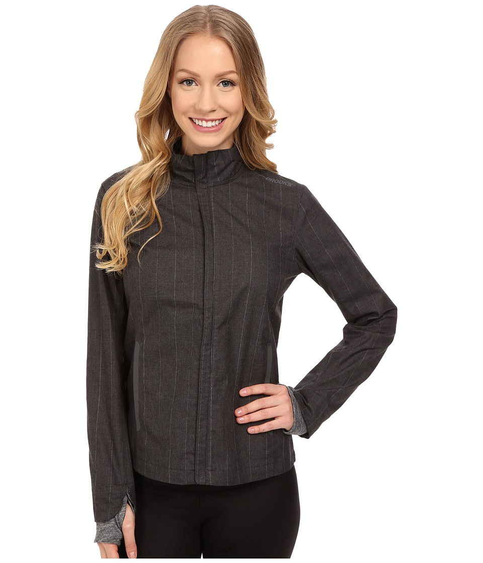 Brooks - Bolt Jacket (Heather Black) Women's Coat