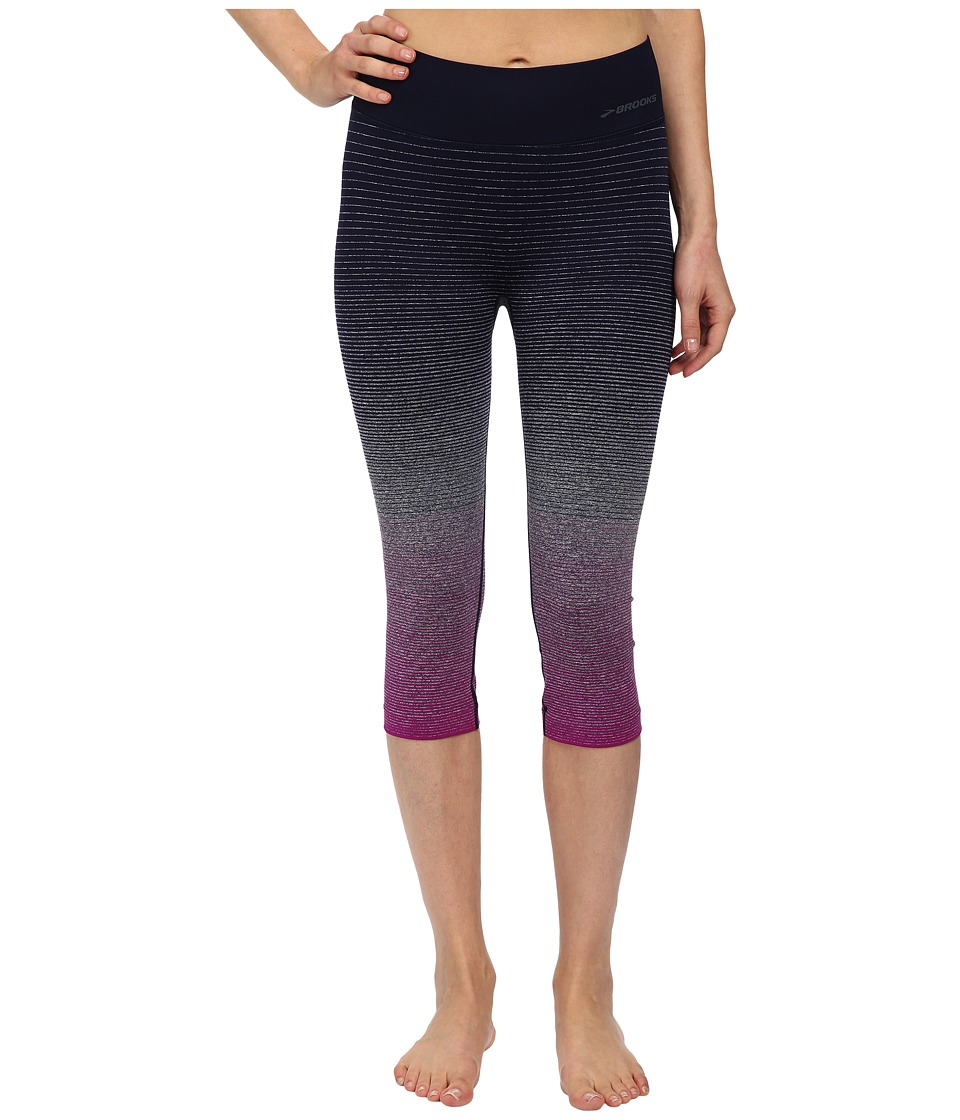 Brooks - Streaker Capris (Currant/Navy) Women's Capri