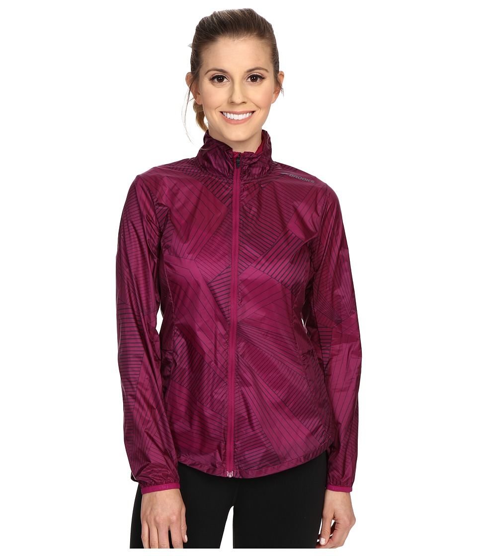 Brooks - LSD Jacket (Currant Big Sunshine) Women's Coat