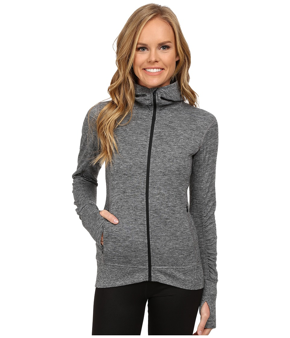 Brooks - Joyride Hoodie (Heather Black/Asphalt) Women's Sweatshirt