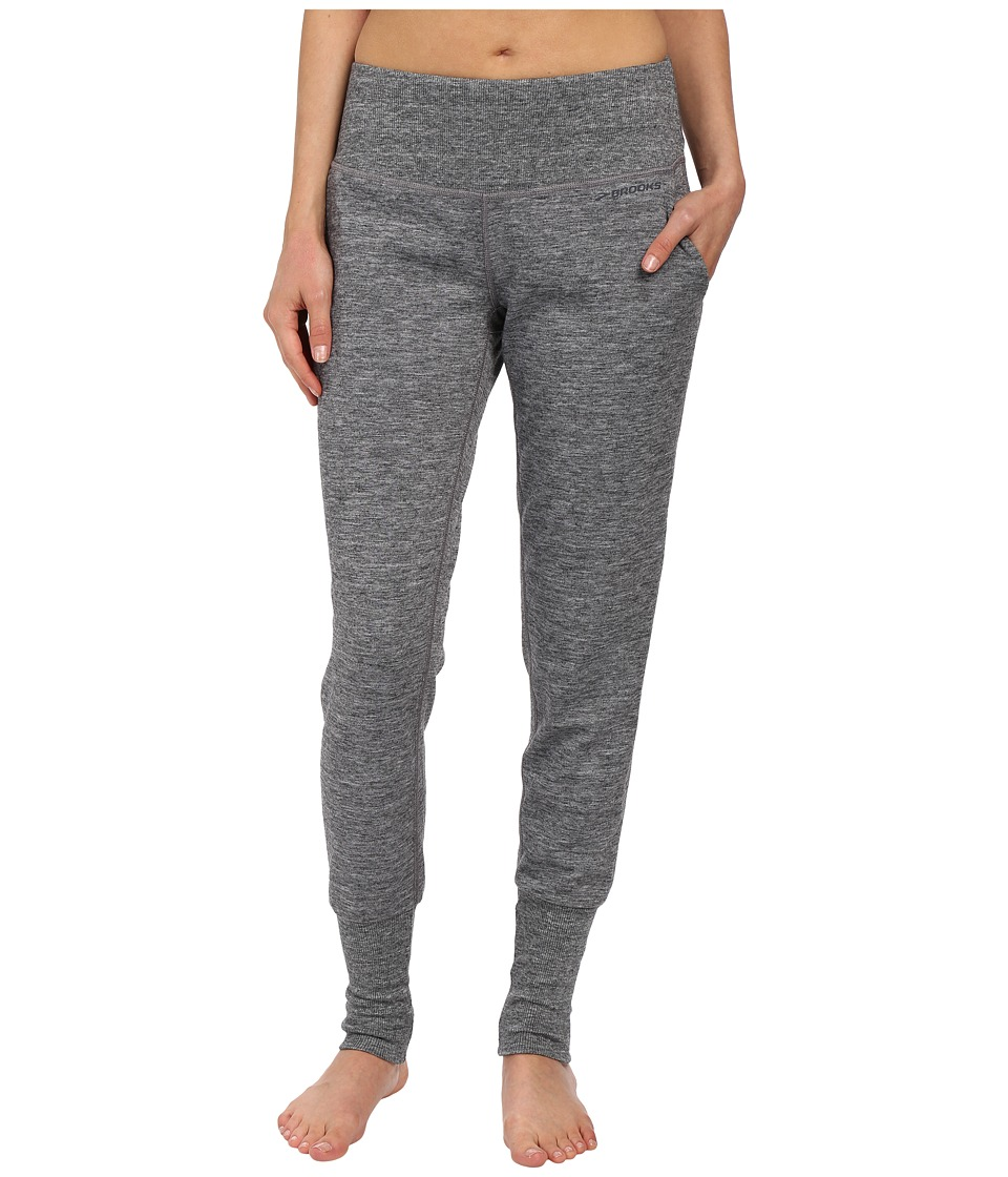 Brooks - Joyride Pants (Heather Black/Asphalt) Women's Casual Pants