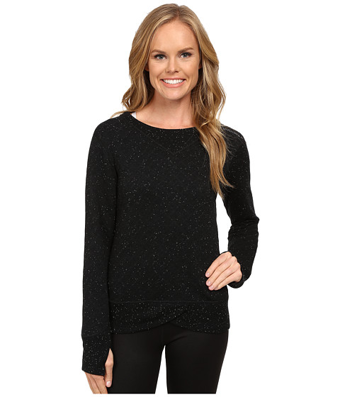 Brooks - Fly-By Sweatshirt (Black/Asphalt) Women's Sweatshirt